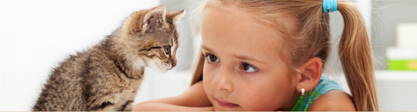 General Image - Kitten with Girl